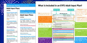 EYFS Bonfire Night Themed Bumper Planning Pack Overview - eyfs, bonfire night, bumper, planning, pack