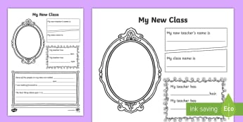 My New Class Fact Sheet - transition, moving class, year 1, parents, emotional support