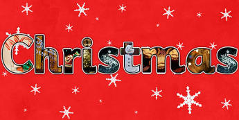 Christmas Photo Display Lettering - christmas, letters, lettering