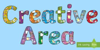 Creative Area Display Lettering - creative area, display lettering, display letters, lettering, display alphabet, lettering for display, alphabet letters