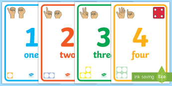 Visual Number Line Display Posters - ten, 10, count, counting, counting aid, number, countng, couting, coutning, xounting
