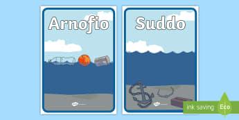 Taflenni Didoli Suddo Ac Arnofio - float, sink, activity, arnofio, suddo, gweithgaredd, taflenni,Welsh