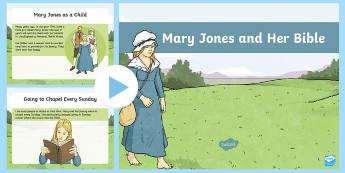 Mary Jones and Her Bible PowerPoint - Mary, Mari, Jones, Bible, beilbl, Cymru, hanes, Bala,Welsh
