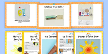 EYFS Summer Themed Craft with Accompanying Planning Pack - summer