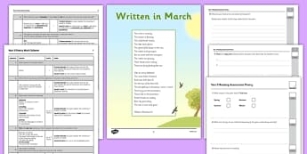 Year 5 Reading Assessment: Poetry Term 1 - reading, assessment, poetry