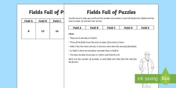Fields Full of Puzzles Activity - Northern Ireland, Balmoral Show, 10th-13th May, Farming, Agriculture, Key Stage 2, finding possibili
