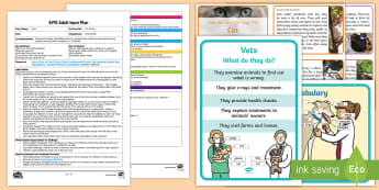 EYFS Pet Poster Adult Input Plan and Resource Pack - EYFS Pets, Animals, National Pet Month, pets, writing, information posters, dogs, cats, budgerigars,