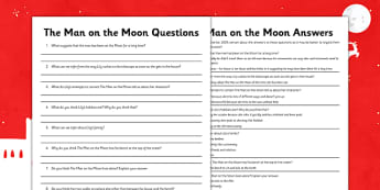 The Man on the Moon Inference and Deduction Questions - man on the moon, inference, deduction, questions
