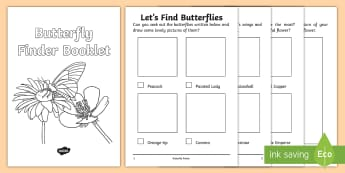 Butterfly Finder Booklet - Butterfly Booklet - butterfly, flowers hunt, investigation, finding butterflies, minibeast , knowled