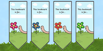 Worm Bookmarks - worm, bookmarks, book, mark, minibeast