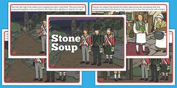 Stone Soup Story - stone soup, story, tale, traditional, stone