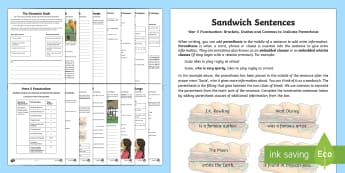 Year 5 Punctuation: Brackets, Dashes and Commas to Indicate Parenthesis Learning  From Home Activity Booklet - Learning From Home Activity Booklets (KS2), brackets, dashes, commas, parenthesis