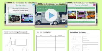 Festival Food Van Design Activity Pack - net, packaging, menu, food, festival, design, development