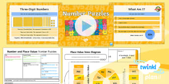 PlanIt Y3 Number and Place Value Lesson Pack Place Value (2) - Number and Place Value, multiples, times tables, steps of, counting on, problem solving, maths maste