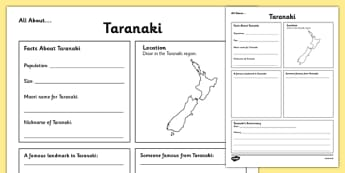 All About Taranaki Writing Frame - Taranaki, Anniversary, city, research
