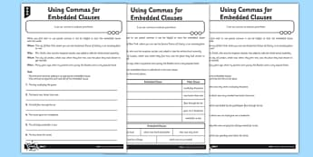 Using Commas for Embedded Clauses - GPS, spelling, grammar, embedded clauses
