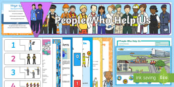 Childminder People Who Help Us EYFS Resource Pack - People Who Help Us, police, fireman, firefighter, paramedic, ambulance, emergency services, childmin