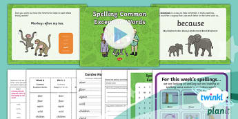PlanIt Y2 Term 1A W6: Common Exception Words Spelling Pack