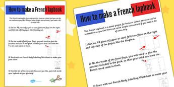 French Lapbook Instructions-Sheet - France, instruction, lapbooks