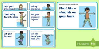 Junior Water Confidence Challenge Cards - P.E., Swimming, Water Confidence, Aquatics, new zealand, swimming, swim, NZ, pe, physical education,