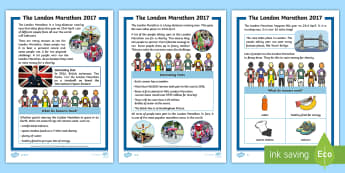 KS1 London Marathon Differentiated Fact File - london marathon, race, running, exercise, jogging, health, Understand what they read, in books they