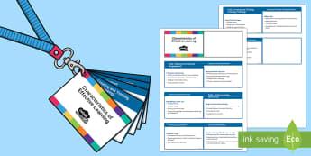 Lanyard-Sized EYFS Characteristics of Effective Learning  - keyfob, keyring, EYFS, Characteristics of Effective Learning, CoEL, curriculum, assessment