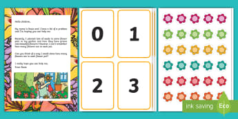 Counting in Rosie's Garden Resource Pack  - EYFS, Early Years, Mathematics, Maths,  40-60, Selects The Correct Numeral To Represent 1 To 5, Then