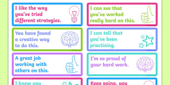 Growth Mindset Feedback Stickers-Australia