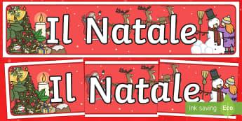 Italian Striscione Natalizio - Striscione Natalizio, striscione, Natale, Christams, feste, festivita\'