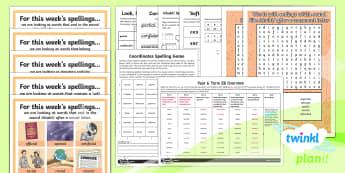 PlanIt Spelling Year 6 Term 2B Bumper Spelling Pack - Spellings Year 6, Y6, pack, half term. medium term, bumper, spring term, assessment, spag, gps, list