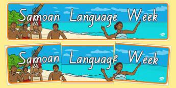 Samoan Language Week Display Banner