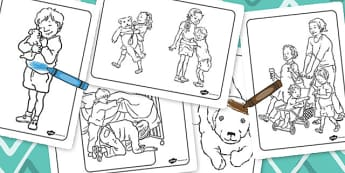 Colouring Sheets to Support Teaching on Dogger - worksheets, worksheet, colour, dogger