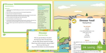 Dinosaurs Small World Play Idea and Printable Resource Pack - Dinosaurs, small world, imaginative play, invitation to play, provocation, role-play