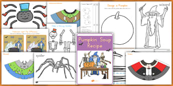 Halloween Activity and Craft Pack - spooky, role play, activity, game, design, fun, make, model, topic, set, kit, plan, ideas, sheets,