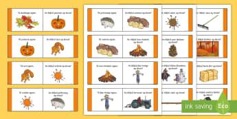 Autumn Loop Cards Gaeilge - fómhar, season, séasúr, irish, games, cluichí,Irish