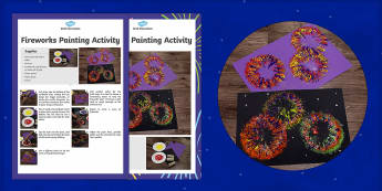 Fireworks Painting Activity Craft Instructions