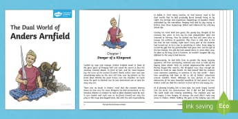 The Dual World of Anders Arnfield Story Booklet - anders arnfield, model story, ks2, story, fiction, book, guided reading, class novel, adventure, act