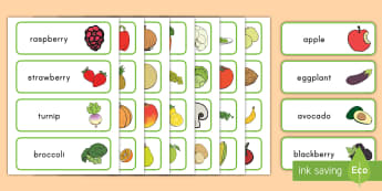 Grocery Store Role Play Word Cards - flashcard, fruit, vegetables, supermarket, display, food, plants, vocabulary