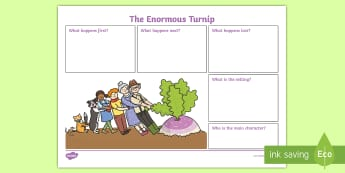 The Enormous Turnip Book Review Writing Frame - the enormous turnip,  book review, writing frame, book review writing frame, writing aid, writing template