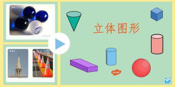 立体图形照片幻灯片 - 立体图形,图形认知,幻灯片,球体,长方体,正方体,棱锥,棱柱