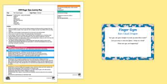 EYFS Rain Cloud Dropper Finger Gym Plan and Prompt Card Pack - Rain, pipette, cloud, funky fingers, fine motor skills