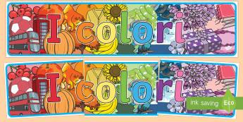 I colori Striscione - i, colori, striscione, decorazione, appendere, cartellone, decora, classe, educazione, artistica, it