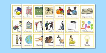 Horario visual infantil - actividades, orden, NEE, estructura, día escolar
