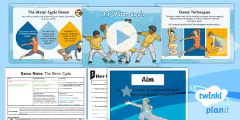 PlanIt - PE Year 4 - Dance: Water Lesson 6 - The Water Cycle - Dance: Water, PE, physical education, exercise, Y4, year 4, LKS2, key stage 2, planning, plans, powe