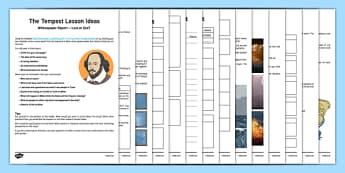 Shakespeare's The Tempest Lesson Plan Ideas and Resources