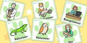 Animal Rescue Centre Role Play Badges - animals, roleplay, props