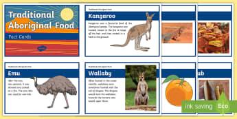 Traditional Aboriginal Food Fact Cards - Aboriginal food, Aboriginal history, Indigenous food, indigenous history, Australian history, defini