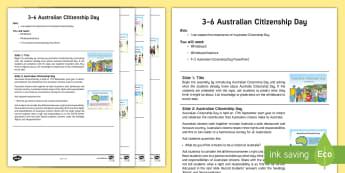 3-6 Australian Citizenship Day Assembly Script - Yr 3, Yr 4, Australian Events, Yr 5, Yr 6, Assembly, Australia