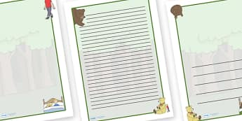 Where's My Teddy Page Borders - Where's My Teddy, teddy, woods, forest, lost, bear, page border, border, writing template, writing aid, writing aid, reading, story, book