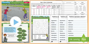 Year 6 Term 1A Week 1  Spelling Pack  - Spelling Lists, Word Lists, Autumn Term, List Pack, SPaG
